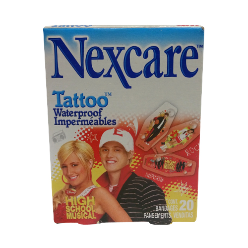 Nexcare Tattoo Waterproof Impermeables, High School Musical Bandages, 20 Count