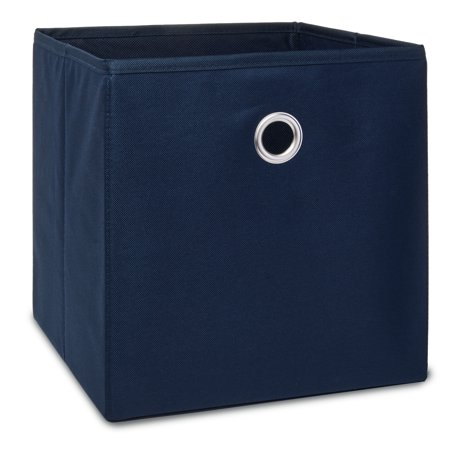Mainstays Collapsible Fabric Cube Storage Bins, 4 Pack, Blue Cove
