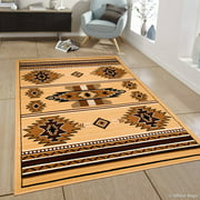 """Allstar Brown Woven High Quality Rug. Traditional. Persian. Flower. Western. Design Area Rug (5' 2"""" x 7' 1"""")"""