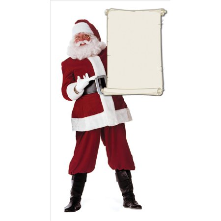 Advanced Graphics 433 Santa Claus with Blank List- 72