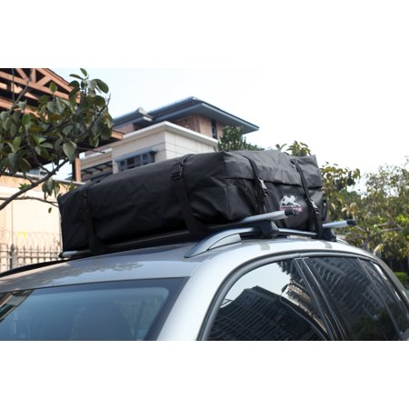 100 Waterproof Soft Roof Top Cargo Bag 11 Cubic Feet For Car Van Or SUV Works With Without Rack