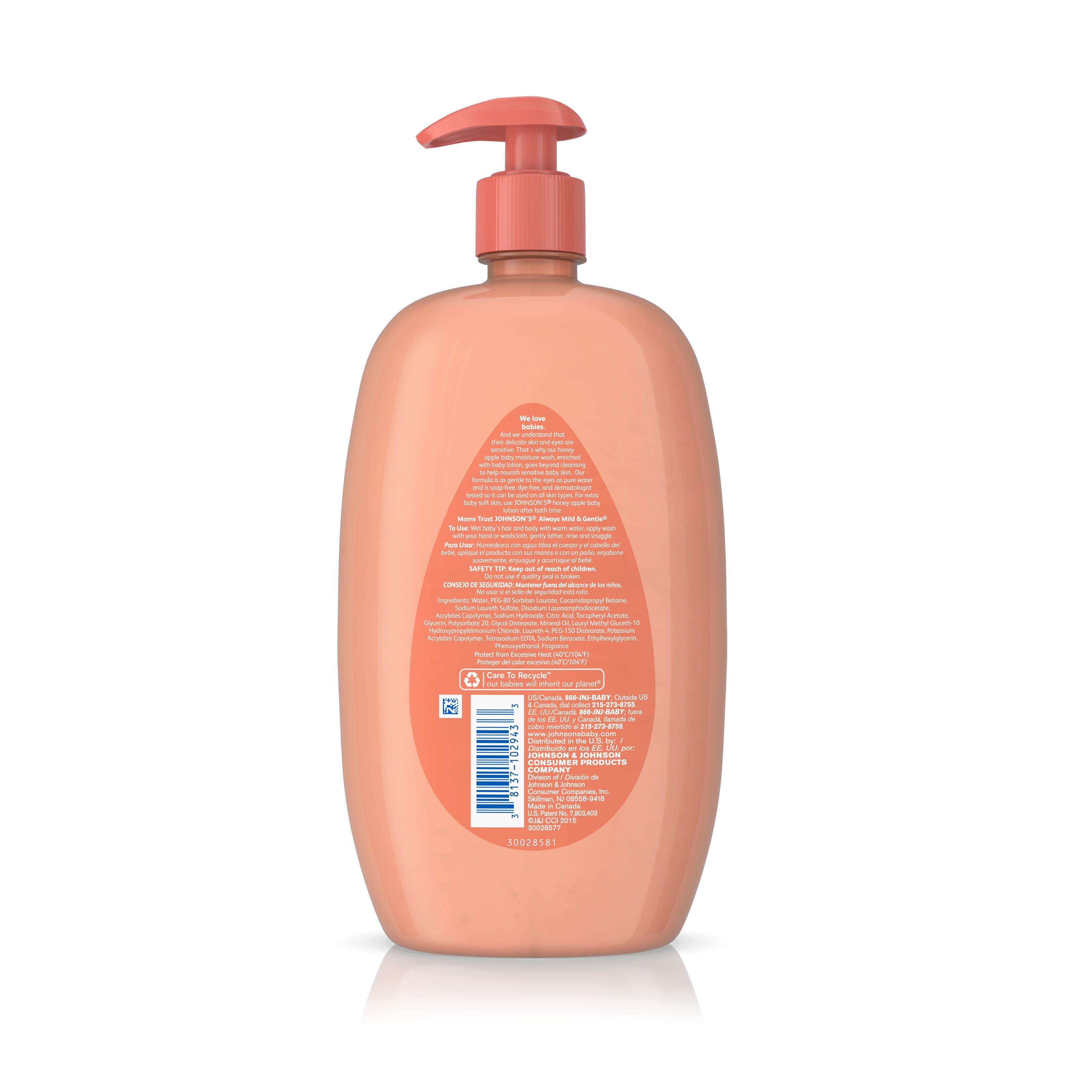Johnson\'s Baby Bath Honey Apple Hypoallergenic Body Wash, 28 Fl. Oz ...