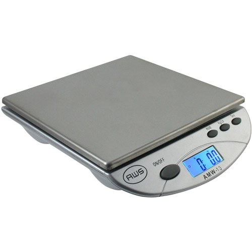 American Weigh Digital Postal Kitchen Scale, Silver by American Weigh Scales