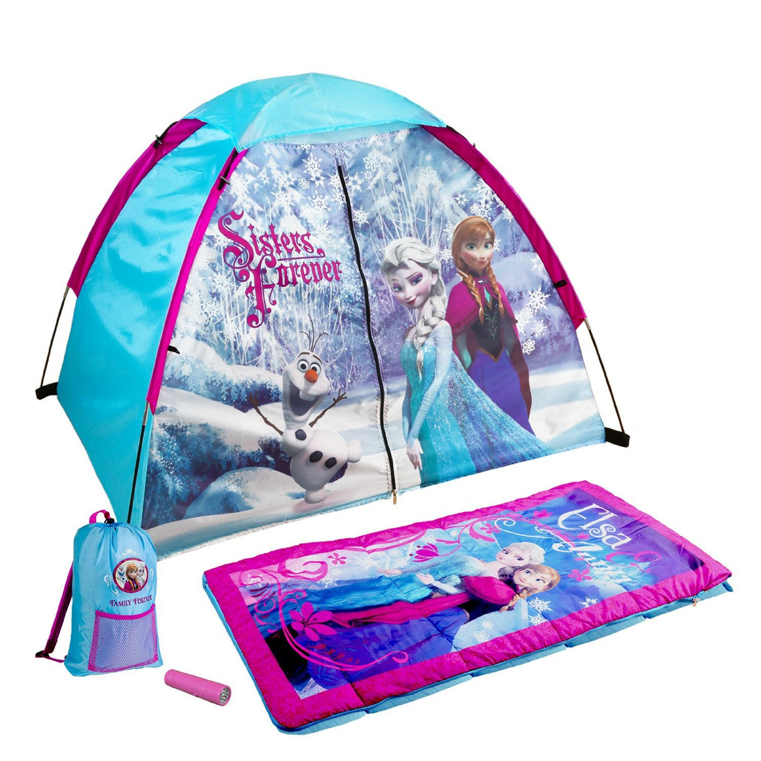 Disney Frozen Themed Kids 4-Piece Fun C& Kit Featuring Elsa/Anna | D  sc 1 st  Walmart.com : kids pop up tent walmart - memphite.com