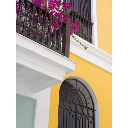 Colonial Buildings in Old City of San Juan, Puerto Rico Island, West Indies, USA, Central America Print Wall Art By Richard
