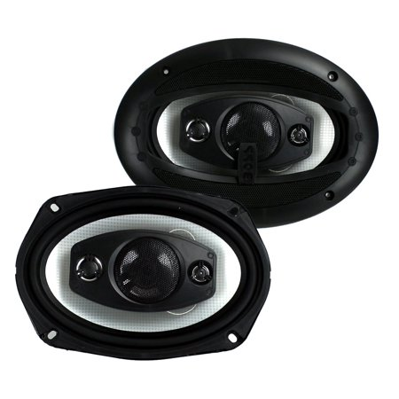 "2) New Boss Riot R94 6x9"" 500W 4 Way Car Coaxial Audio Speakers Stereo PAIR"