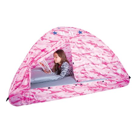 Pacific Play Tents Kids Pink Camo Bed Tent Playhouse - Twin Size - image 2 de 4