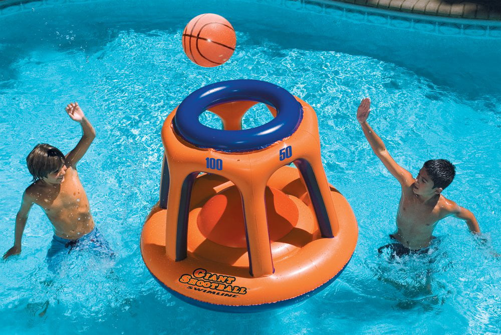 Swimming Pool Basketball Hoop Floating Toys For Kids Boys Teens Pools Toy Floats