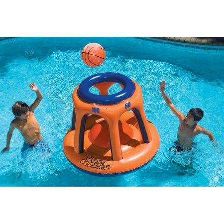 Swimline 90285 Basketball Hoop Giant Shootball Inflatable Fun Swimming Pool Toy