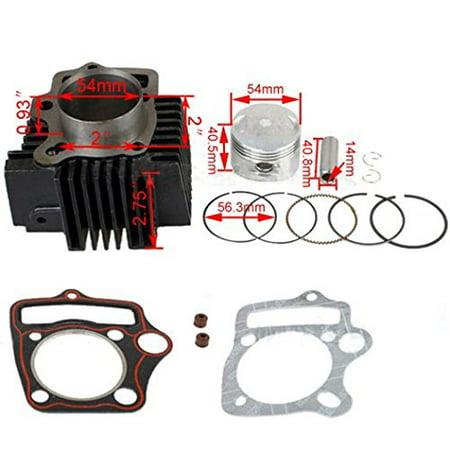 125cc Cylinder Kit (54mm) use 14mm pin- Fits Engines ATV, Dirt bike, Pit Bike (Best Oil For Pit Bike Engine)