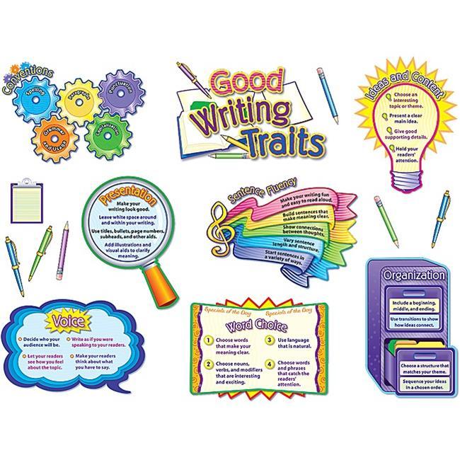 Teacher Created Resources 4404 Good Writing Traits Bulletin Board Display Set - image 1 of 1
