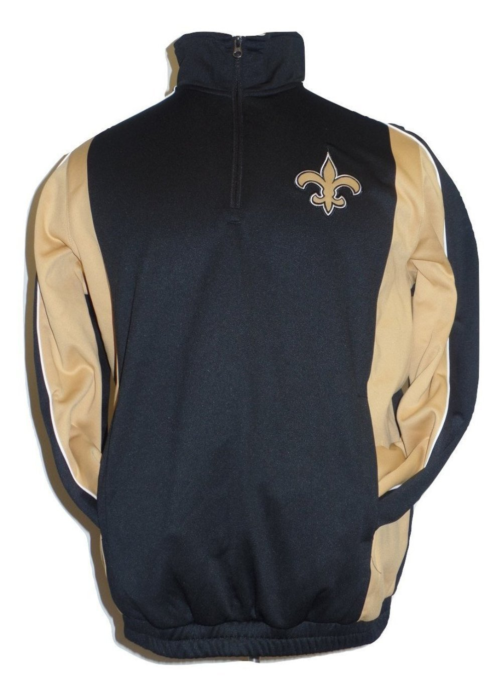 New Orleans Saints Men's Black Performance Fleece Track Jacket by G-III Sports