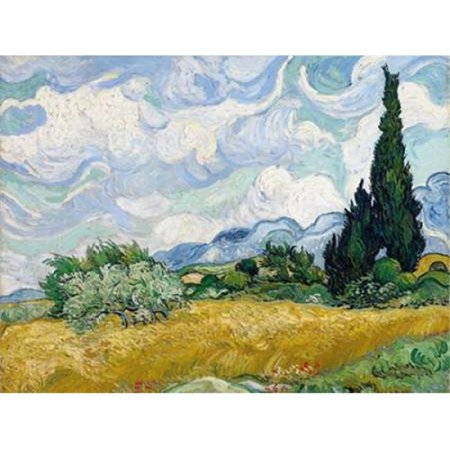 Wheat Field with Cypresses Poster Print by Vincent Van Gogh, 22 x 28 - Large - image 1 de 1