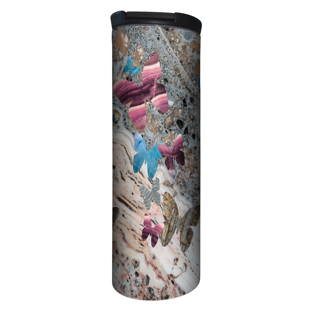 Tree-Free Greetings Granite Butterfly Silhouette Barista Tumbler -BT20206