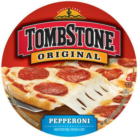 Tombstone Original Pepperoni Pizza 216 Oz Walmart