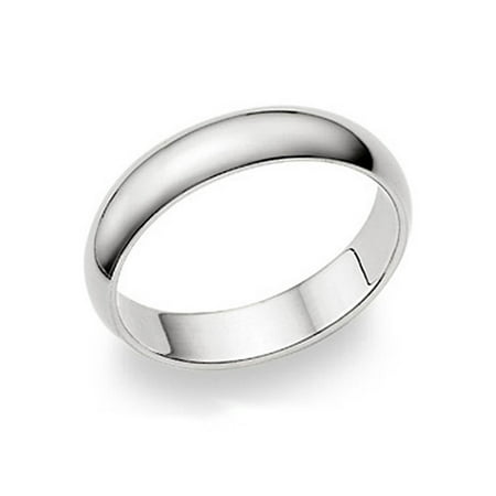 5MM Sterling Silver High Polish Plain Dome Tarnish Resistant Comfort Fit Wedding Band Ring Sz 9