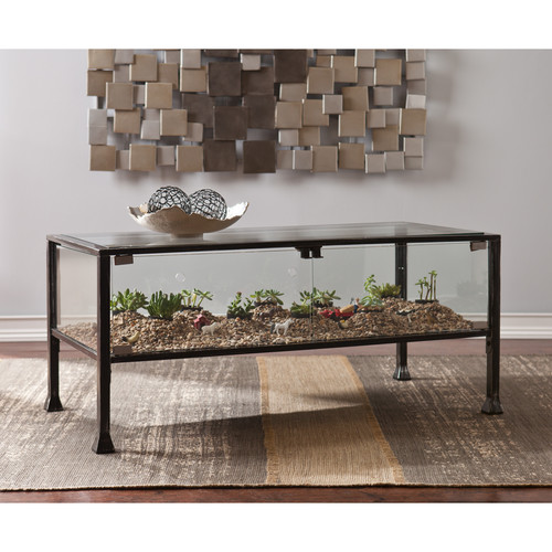 Glass Coffee Tables Walmart: Syrah Coffee Table, Espresso With Frosted Glass