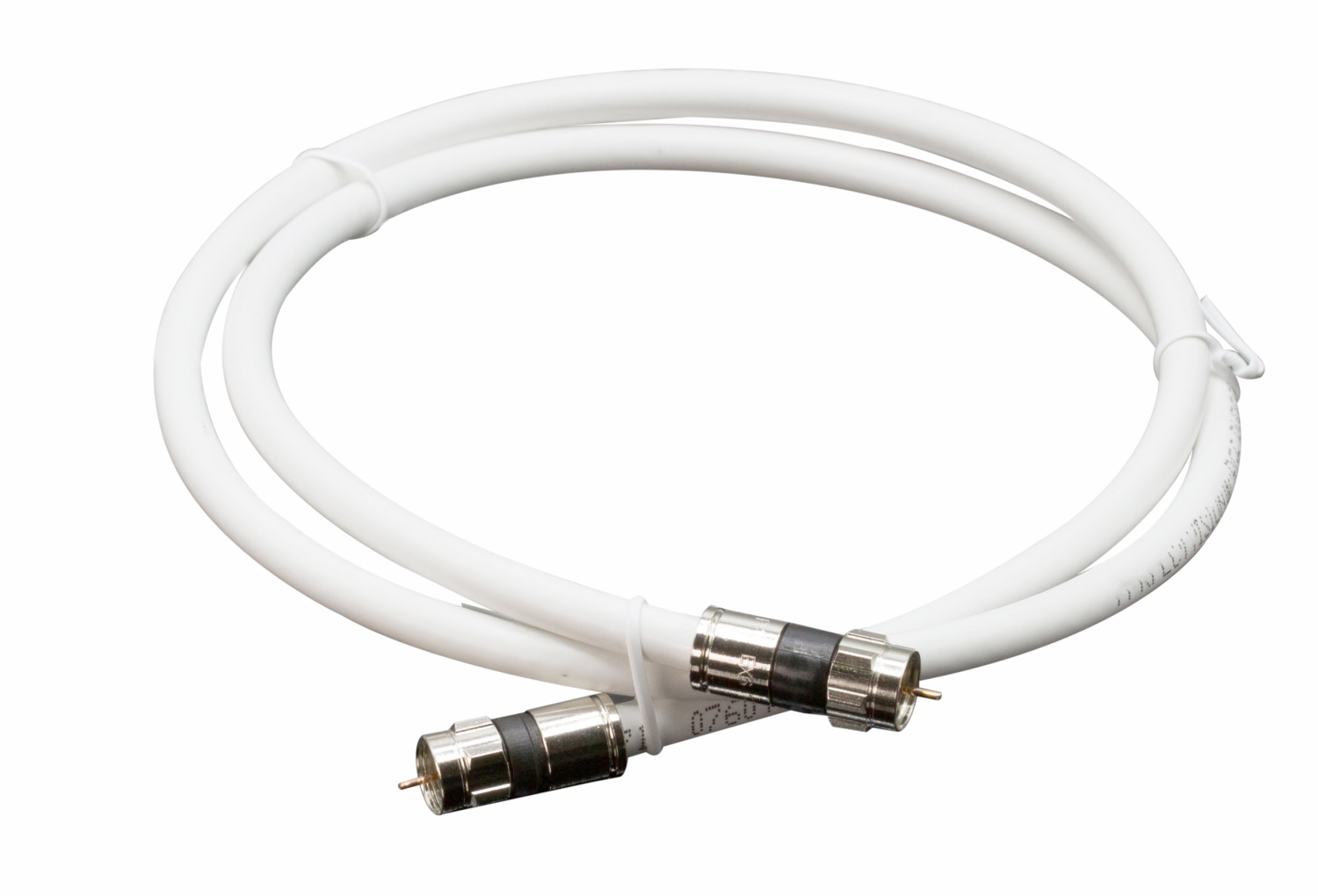 10 Feet White Rg6 Coax Coaxial Cable With Two Male F Pin Male