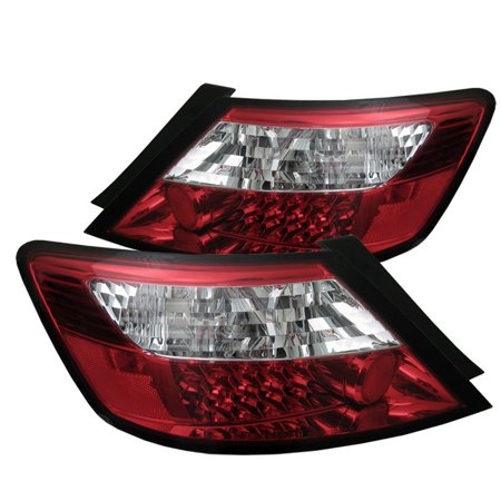 - Spyder Honda Civic 06-08 2Dr LED Tail Lights - Red Clear