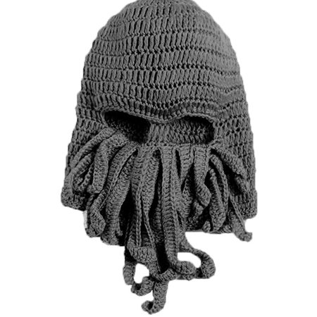 e22b5df5c3c Tentacle Octopus Cthulhu Knit Beanie Hat Cap Wind Ski Mask Color Gray -  Walmart.com