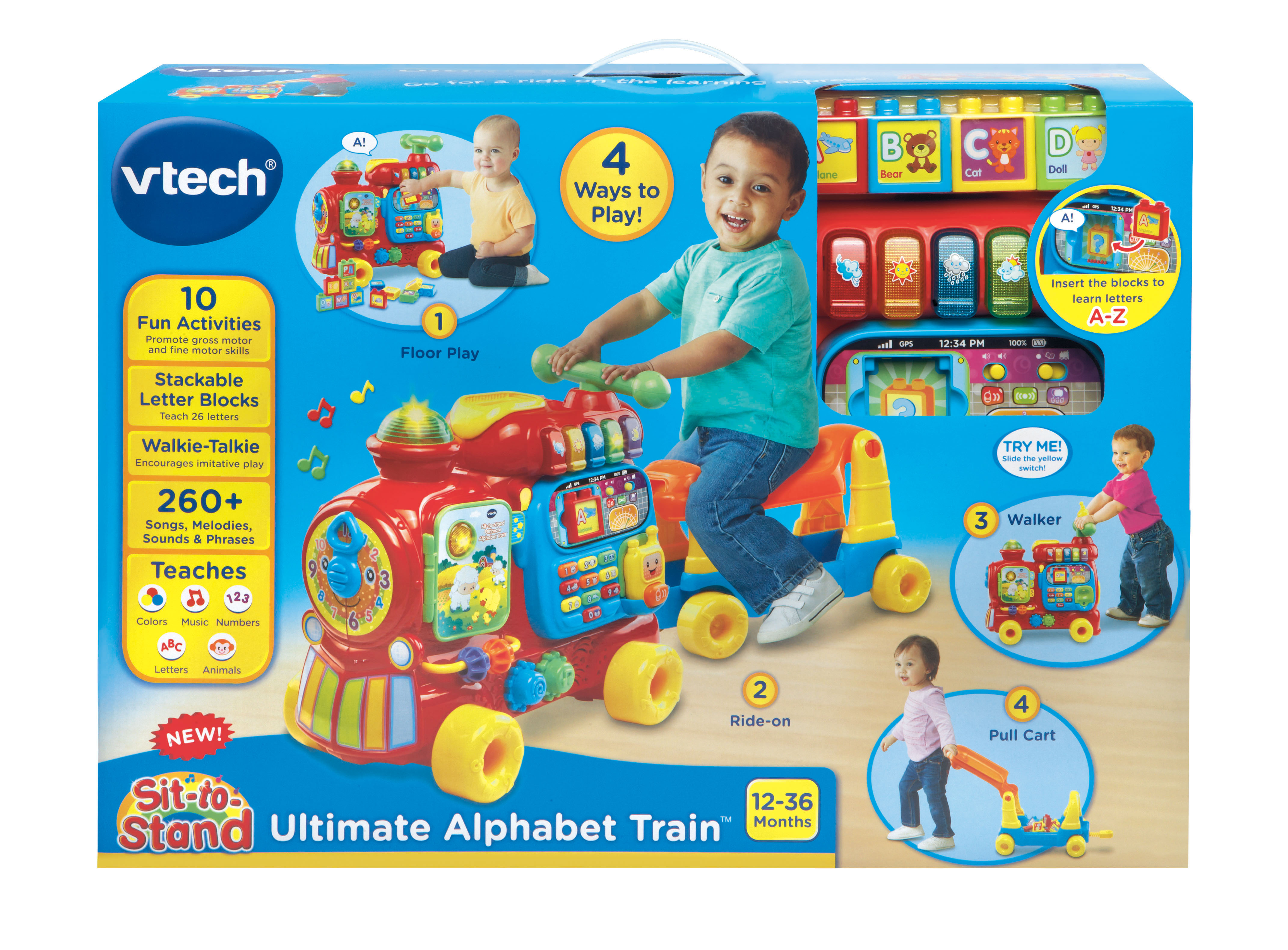 VTech Sit-to-Stand Ultimate Alphabet Train - Walmart com