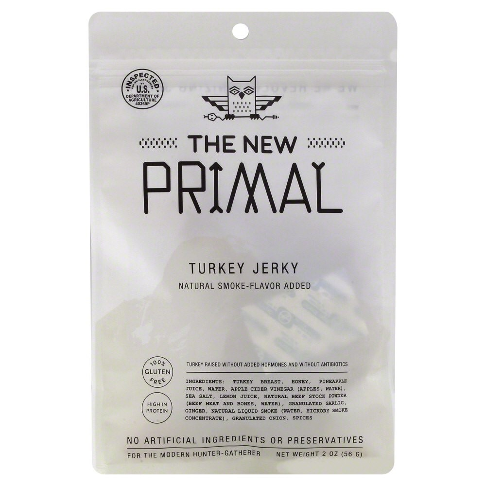 8 Pack : The New Primal Turkey Jerky, 2.0 Ounce by The New Primal