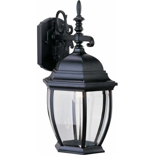 "Volume Lighting V8231 1 Light 18"" Height Outdoor Wall Sconce with Clear Beveled"