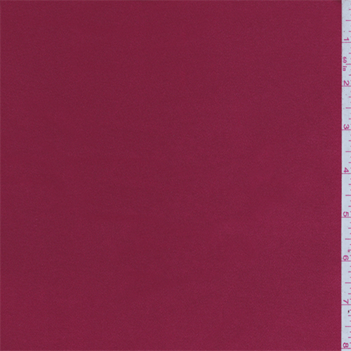 Crimson Red Stretch Satin, Fabric By the Yard
