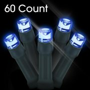 GearIt LED Christmas Lights, 60 Count LED Solar Powered String Lights Holiday Decorations for Outdoor, Gardens, Homes, Wedding, Christmas Party, Waterproof, White