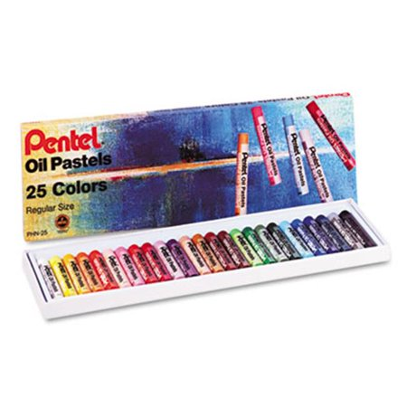 Pentel PHN25 Oil Pastel Set with Carrying Case  Assorted Colors  25 Pastels per Set - image 1 of 1