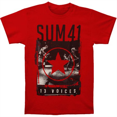 55ac42d3db Sum 41 - Sum 41 Men's Red Star 13 Voices Mens Soft T Slim Fit T-shirt Red -  Walmart.com