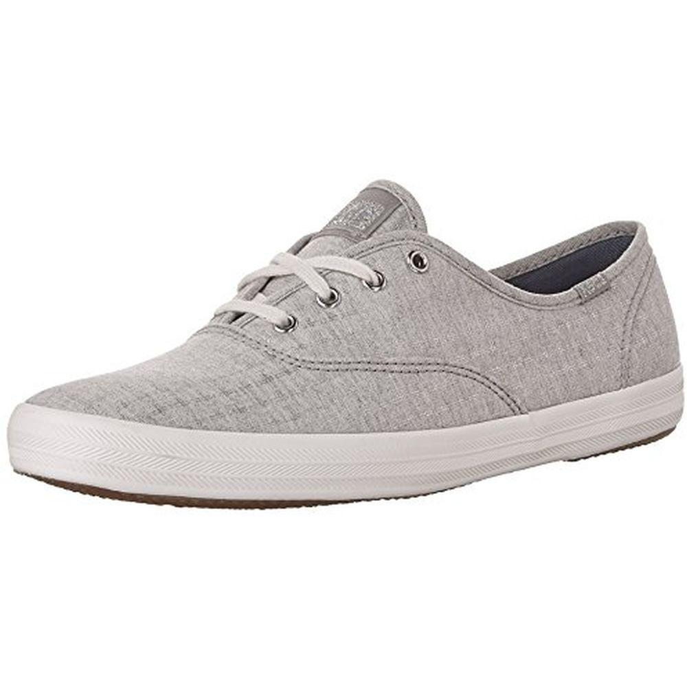 Keds WF56416 Women's Champion Foil Ticking Dot Fashion Sneaker, Light Gray, 5 M US by Keds