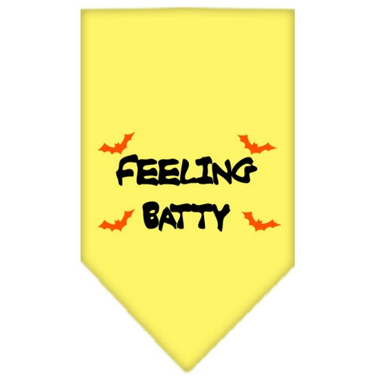 Feeling Batty Screen Print Bandana Lime Green Large