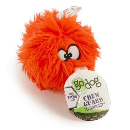 goDog Furballz with Chew Guard Technology Plush Squeaker Dog Toy Small