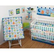 Sumersault Monster Babies 5-Piece Crib Bedding Set