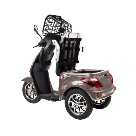 T4B LU-500W Mobility Electric Recreational Outdoors Scooter 48V20AH with Three Speeds, 14/22/32kmph - Brown - image 6 de 14