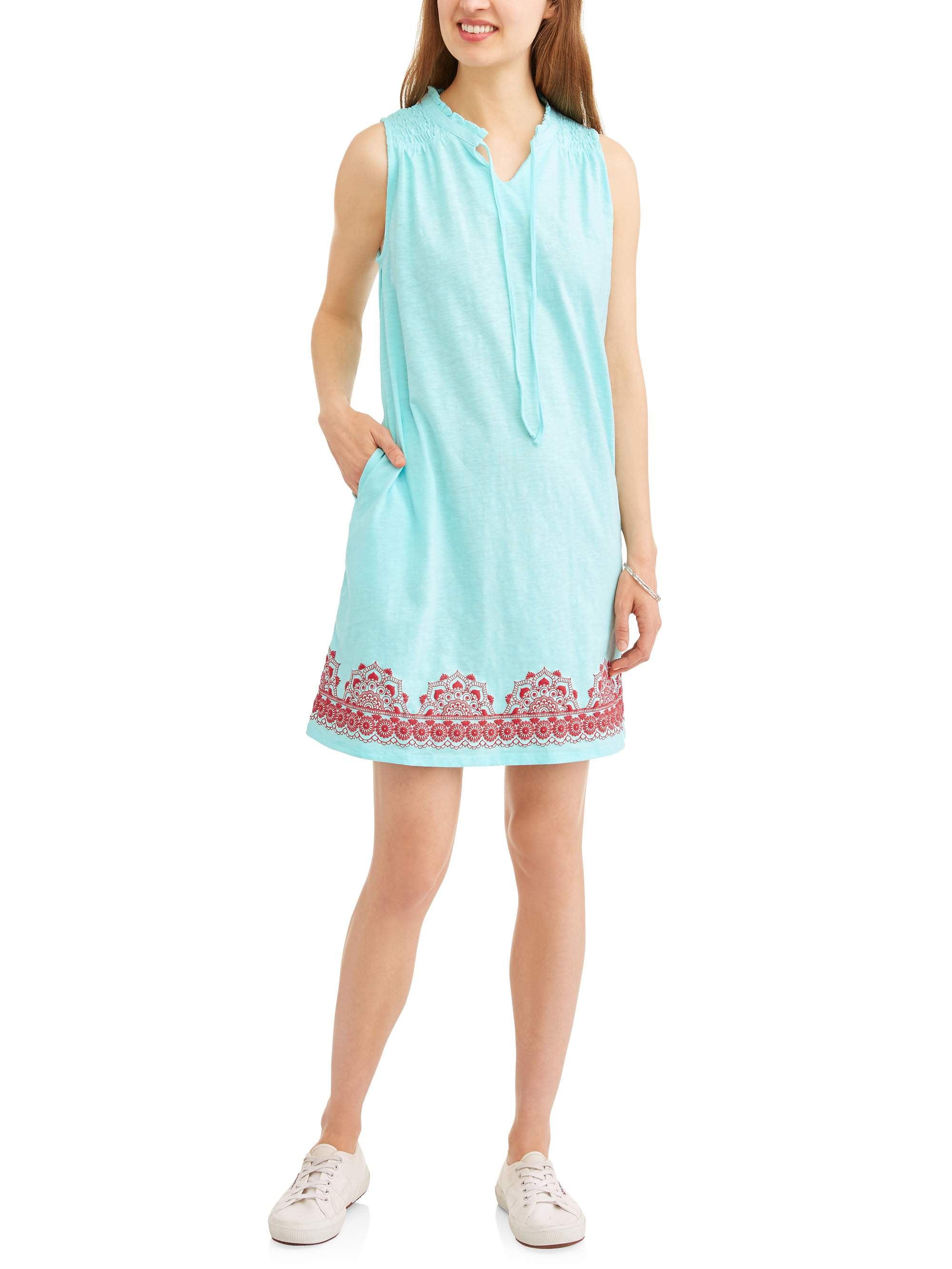 Women's Printed Hem Knit Dress