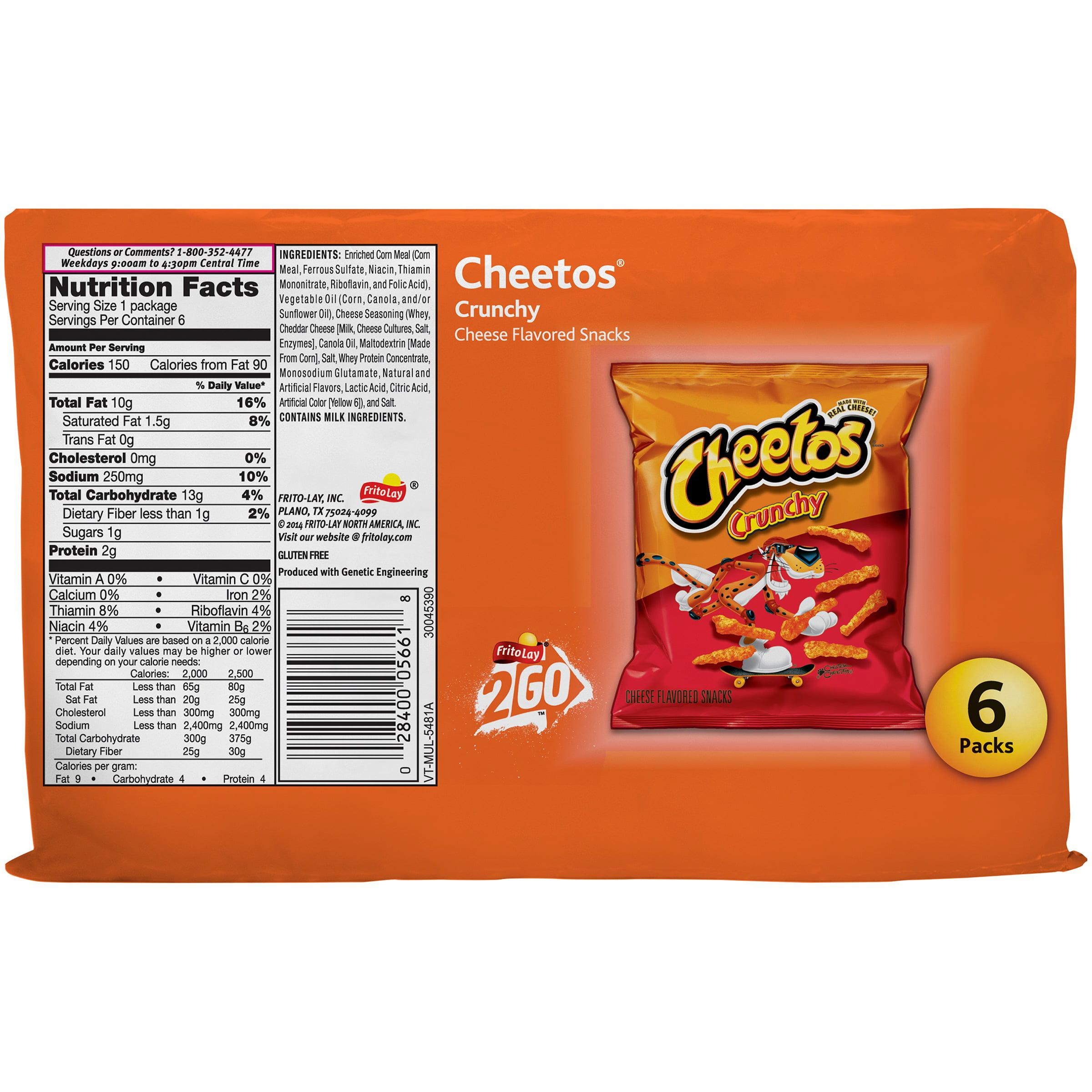 cheetos crunchy cheese flavored snacks 6-1 oz. bags - walmart