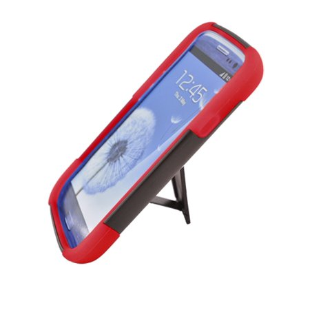 Insten Hard Hybrid Plastic Silicone Case with stand for Samsung Galaxy S3 - Samsung S3 Case