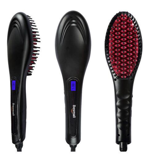 Hair Straightener Brush Instant Magic Silky Straight Hair Styling, Anion Hair Care, Anti Scald, Zero Damage, Massage Straightening Irons, Detangling Hair Brush