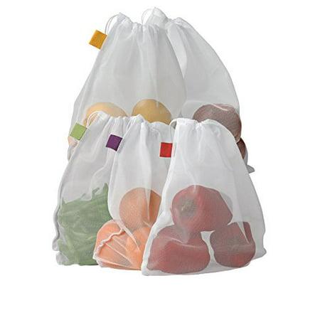 Bahoki Essentials Set of 5 Reusable Mesh Produce Bags