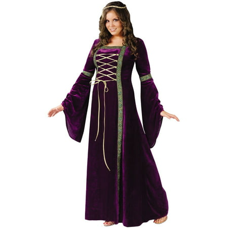 Renasissance Lady Adult Plus Halloween Costume - 6 Person Halloween Costumes