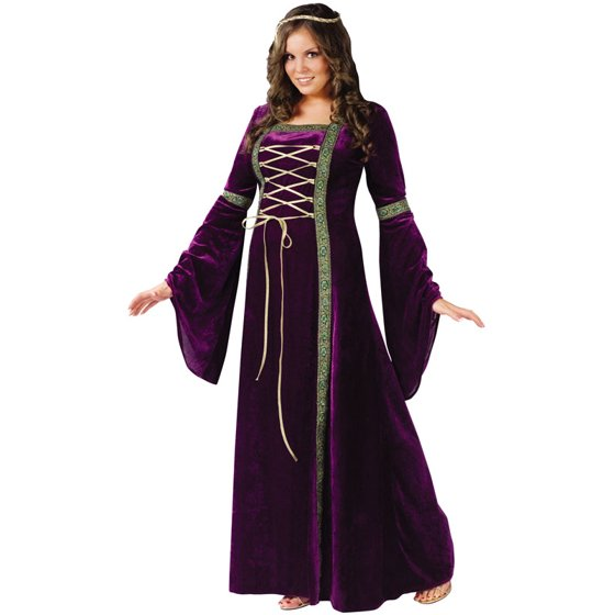 Renasissance Lady Adult Plus Halloween Costume - Walmart.com 1e424d9b7aff