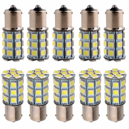 10x 12V 1156 6000k BA15S 27-SMD Car Camper Backup LED Light Bulbs 1141 (White) 1156 Led 12v Bulb
