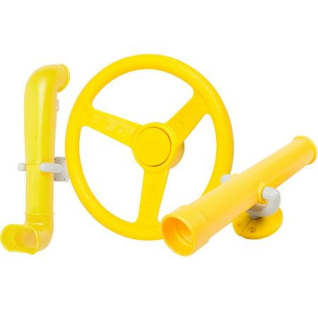 Swing Set Stuff Inc. Periscope Telescope Steering Wheel Kit (Yellow) ()
