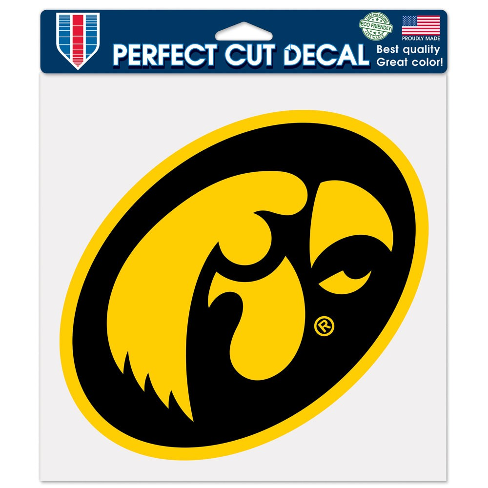Iowa Hawkeyes Official NCAA 8 inch x 8 inch  Die Cut Car Decal by WinCraft