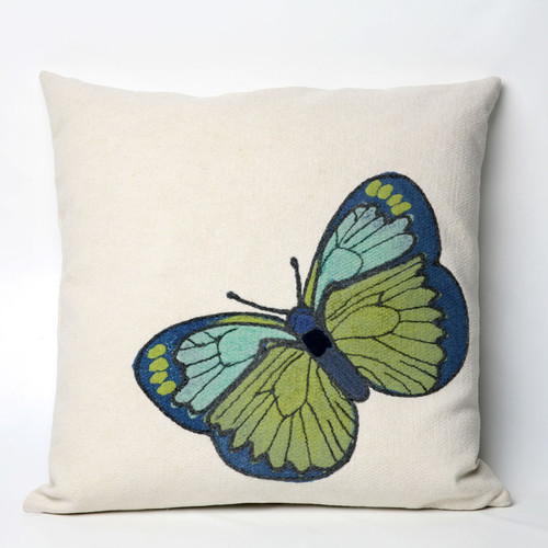 Liora Manne Butterfly Indoor/Outdoor Throw Pillow