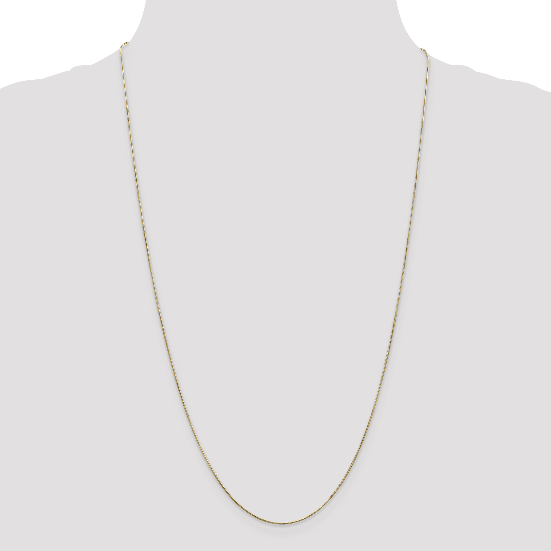 14K Yellow Gold .65mm Round Snake Chain 20 Inch - image 3 of 5