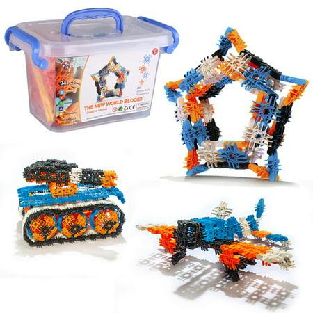 94PCS Snowflakes Children's Puzzle Kids Building blocks DIY Assembly Toys Enlighten Wisdom Design Boys Girls - image 6 of 8