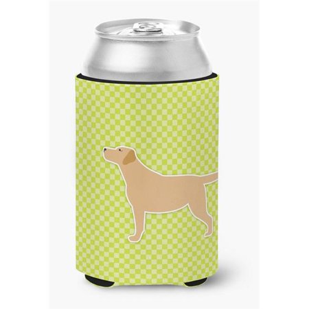 Yellow Labrador Retriever Checkerboard Green Can or Bottle Hugger - image 1 de 1